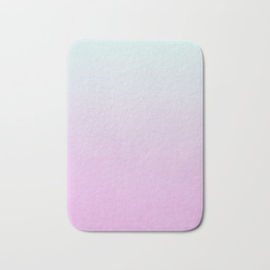 Ombre fade pastel trendy color way throwback retro palette 80s 90s style Bath Mat