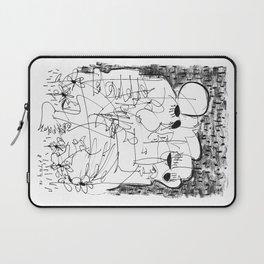 Fear - b&w Laptop Sleeve