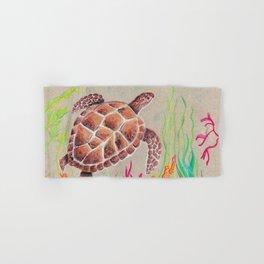 Tan Sea Turtle Hand & Bath Towel