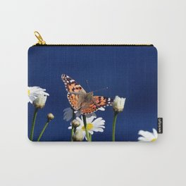 Painted Lady on Daisies Carry-All Pouch