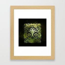 Tree of life - Yggdrasil  and celtic animals Framed Art Print