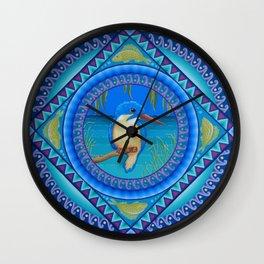 Kingfisher Mandala Wall Clock