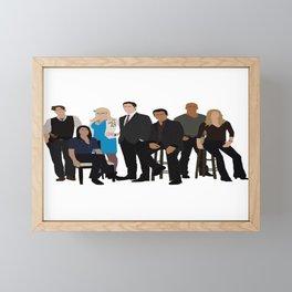 Criminal Minds S6 Gang Framed Mini Art Print