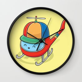 Happy Copter Wall Clock