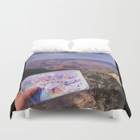 pacific rim Duvet Covers featuring South Rim, Grand Canyon by Claire Sianna