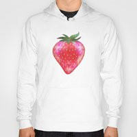 strawberry Hoodies featuring Strawberry by Ornaart