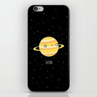 saturn iPhone & iPod Skins featuring Saturn by Sarah Crosby