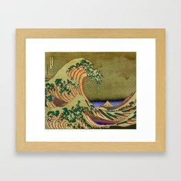 Version Of The Great Wave Off Kanagawa Framed Art Print