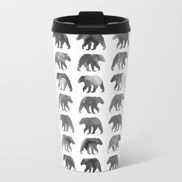 Watercolor Bear - Black & White Travel Mug