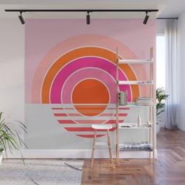 Rainbow sunset Wall Mural