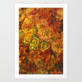 Holiday Flowers Art Print