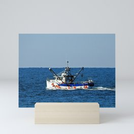 Fishing on the Sea 2 of 3 Port side view Mini Art Print