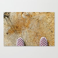vans Canvas Prints featuring Vans by Neil John Smith
