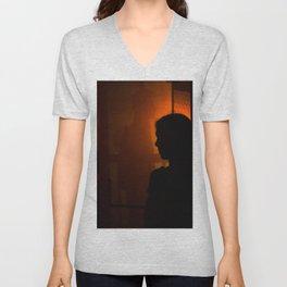 Portrait of a boy and girl Unisex V-Neck