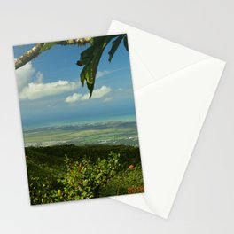 View of the Puerto Rico East Coast - from El Yunque rainforest Stationery Cards