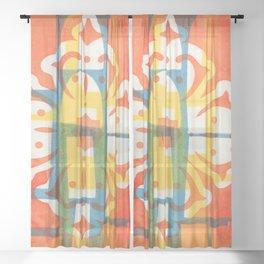 Print in colour Sheer Curtain