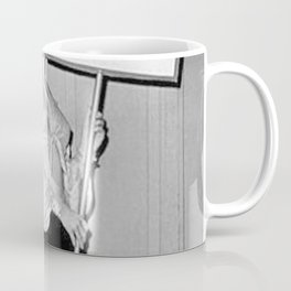 Not Your Bitch Women's Rights Feminist black and white photograph Coffee Mug