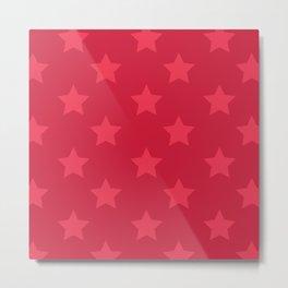Red stars Metal Print