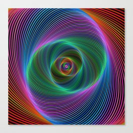 Psychedelic Spiral Stripes Canvas Print