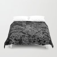 manchester Duvet Covers featuring Manchester  by Line Line Lines