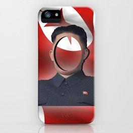 No-Face: Supreme Leader Kim Jong-un iPhone Case