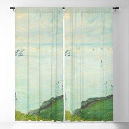 Cliffs at Pourville (1882) by Claude Monet Blackout Curtain