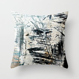 Abstract Scratched Rusty Metal Weathered Texture Throw Pillow