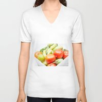 vegetables V-neck T-shirts featuring vegetables by Marcel Derweduwen