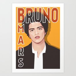 BRUNOMARS VECTOR ART Art Print