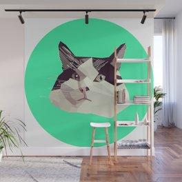 Cat Morpheus Polygonal Graphic Design Wall Mural