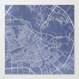 Know Where You Are: Amsterdam Canvas Print