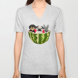 Watermelon Dogs Unisex V-Neck