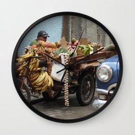 Cuban Streetlife - Fruit Wall Clock