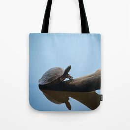 Turtle on The Lake (Color) Tote Bag