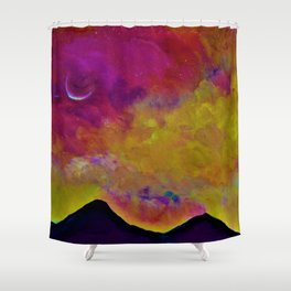 Spring Sky over Mourne Mountains Shower Curtain