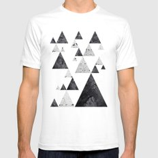 Pyramid Valley Mens Fitted Tee White MEDIUM