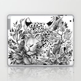 black and white jungle leopard Laptop & iPad Skin
