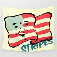stripes Wall Tapestries featuring Stripes by Derek Eads