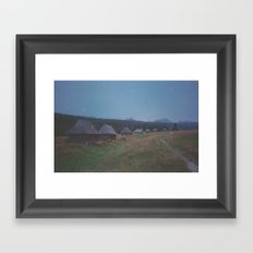 COTTAGES Framed Art Print