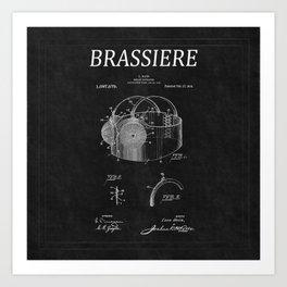 Bra Patent 12 Art Print