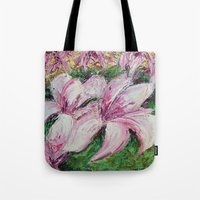dc Tote Bags featuring DC Magnolias by Ann Marie Coolick