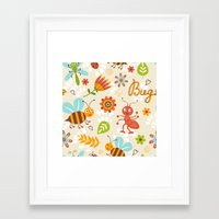 bugs Framed Art Prints featuring Bugs by olillia
