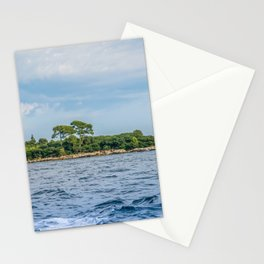 View to the island from sea in Croatia Stationery Cards