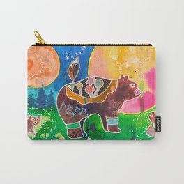 Family bear - animal - by LiliFlore Carry-All Pouch