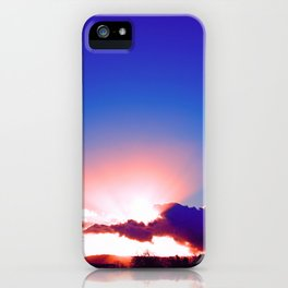 """Day's End  #273"" with poem: Passing Days iPhone Case"