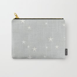 Grey star with fabric texture - narwhal collection Carry-All Pouch