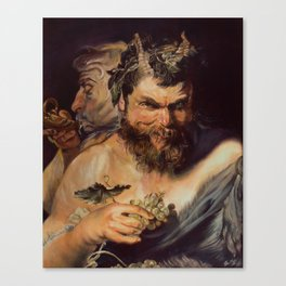 Two Satyrs  Canvas Print