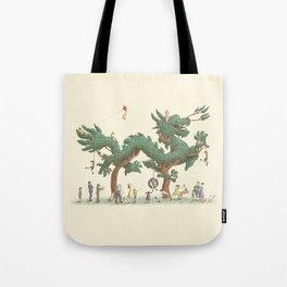 The Night Gardener - Dragon Topiary  Tote Bag