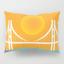San Francisco, California - Skyline Illustration by Loose Petals Pillow Sham