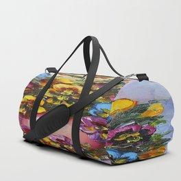 Pansies Duffle Bag
